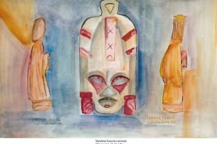 008 - Maschera kenyota e presepe