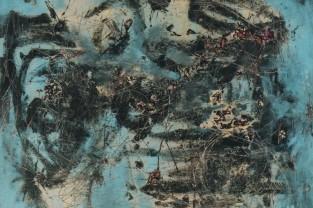 L'impero dell'atomo, 80 h x 90, acrilico su tela, 1995