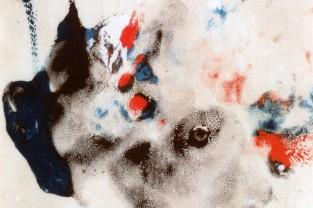 Dolce invasione, 26 h x 17,5, acrilico su cartoncino, 1988