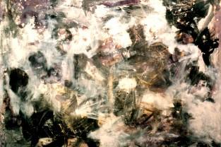 Oscurità trasparente, 100 h x 120, acrilico su tela, 1995