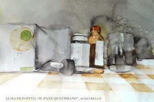 Alma Olivotto - Il pane quotidiano - Acquerello