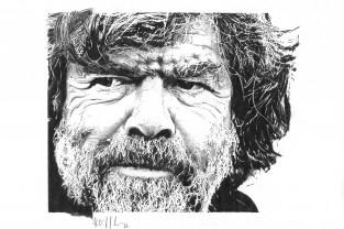 Reinhold Messner Nr. 10 | Personalità dell'Alto Adige disegnate
