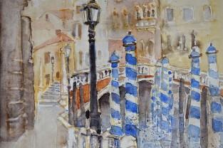 VENEZIA-PONTE-DELLE-GUGLIE-30h-x-40-cm---Acquerello-2012